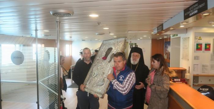 Η Παναγία «επιβάτης» στο Aqua Jewel