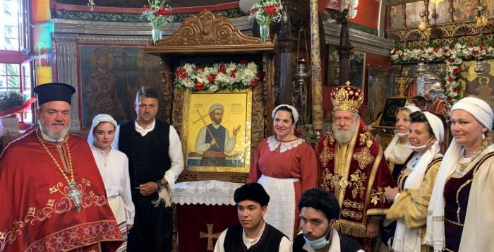 Λαμπρός εορτασμός της μνήμης του Αγίου Νεομάρτυρος Μανουήλ του Κρητός στη Μύκονο