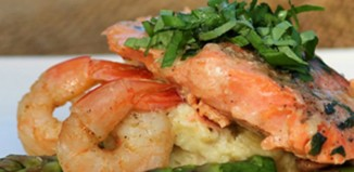 Φιλέτα ψαριού με μανιτάρια και γαρίδες