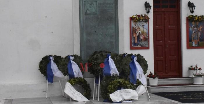 Μύκονος: Επιμνημόσυνη δέηση και κατάθεση στεφάνων στο μνημείο των πεσόντων