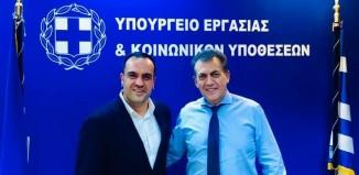 Συνάντηση του Δήμαρχου Μυκόνου με τον Υπουργό Εργασίας και Κοινωνικών Ασφαλίσεων