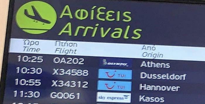 Ποδαρικό στο άνοιγμα του ελληνικού τουρισμού με 32 διεθνείς πτήσεις στο Ν. Αιγαίο