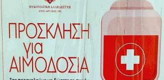 Φιλανθρωπικός Σύλλογος Μυκονιάτικη Αλληλεγγύη: Πρόσκληση για αιμοδοσία στη Μύκονο
