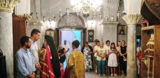 Ακολουθία της πρώτης παρακλήσεως στο καθολικό της Ιεράς Μονής Παναγίας Τουρλιανής.
