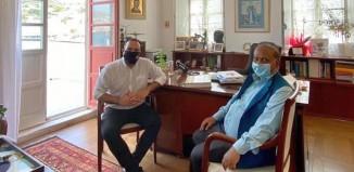Ο Δήμαρχος Μυκόνου υποδέχθηκε το νέο Πρέσβη της Ινδίας