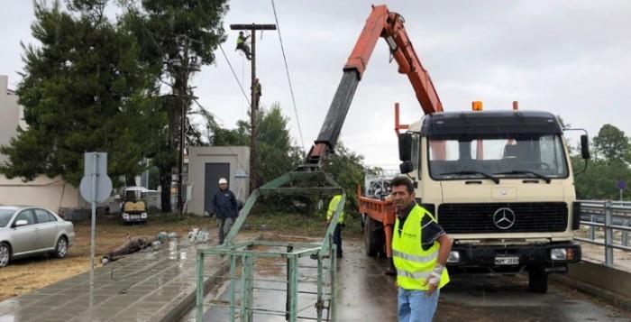 Κυβερνητικό κλιμάκιο στη Χαλκιδική με στόχο άμεση αποκατάσταση της ηλεκτροδότησης