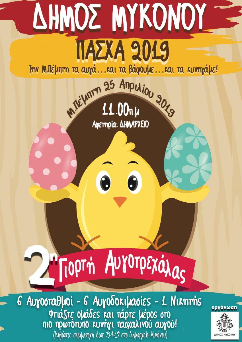 Η 2η γιορτή Αυγοτρεχάλας την Μ. Πέμπτη στη Μύκονο