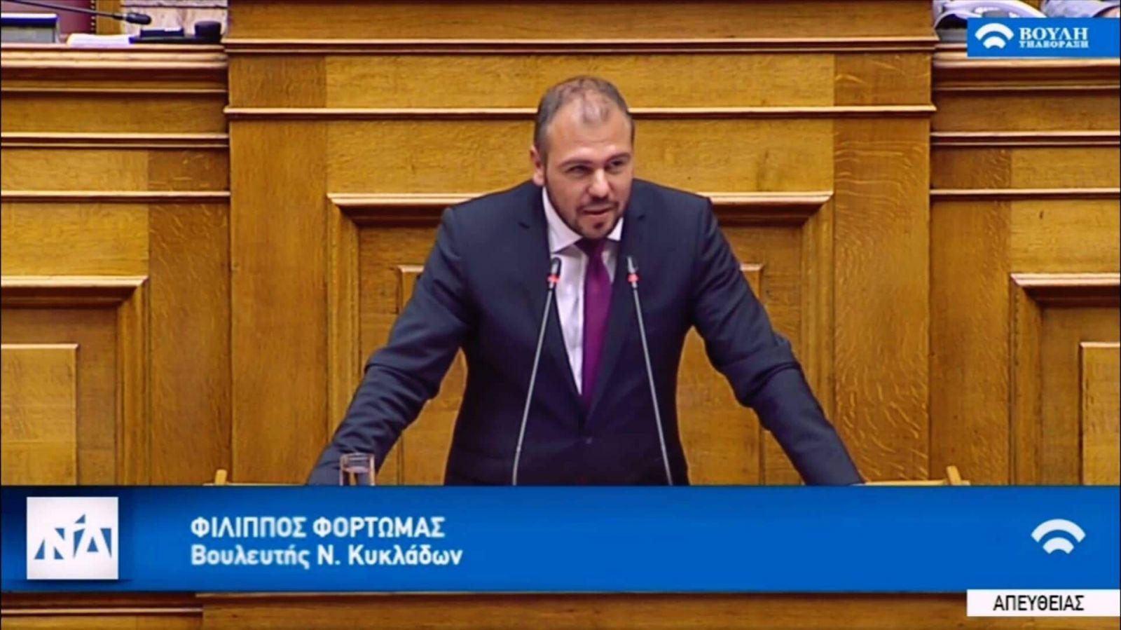 Ομιλία Φόρτωμα στη Βουλή για τον Αναπτυξιακό Νόμο