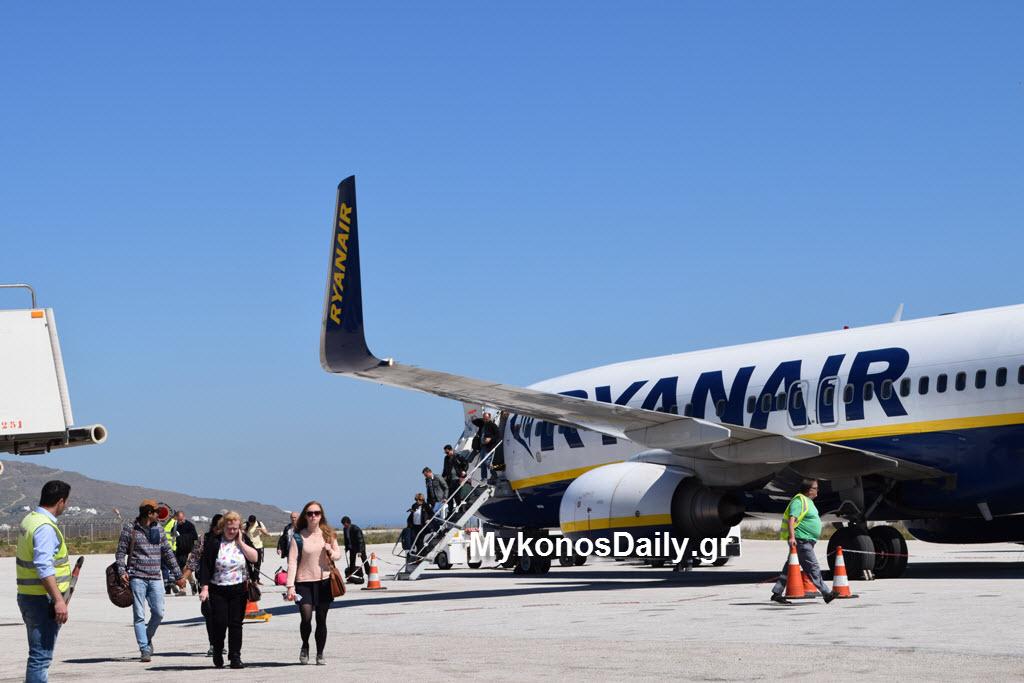 Νέα σύνδεση Μύκονος - Μπορντό από τη Ryanair