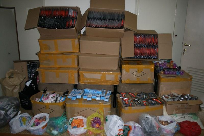 Εντοπίστηκε αποθήκη με προϊόντα παρεμπορίου