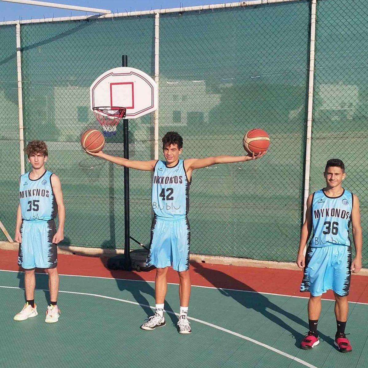 Οι ακαδημίες μπάσκετ του Α.Ο. Μυκόνου παρουσίασαν τις νέες εμφανίσεις τους