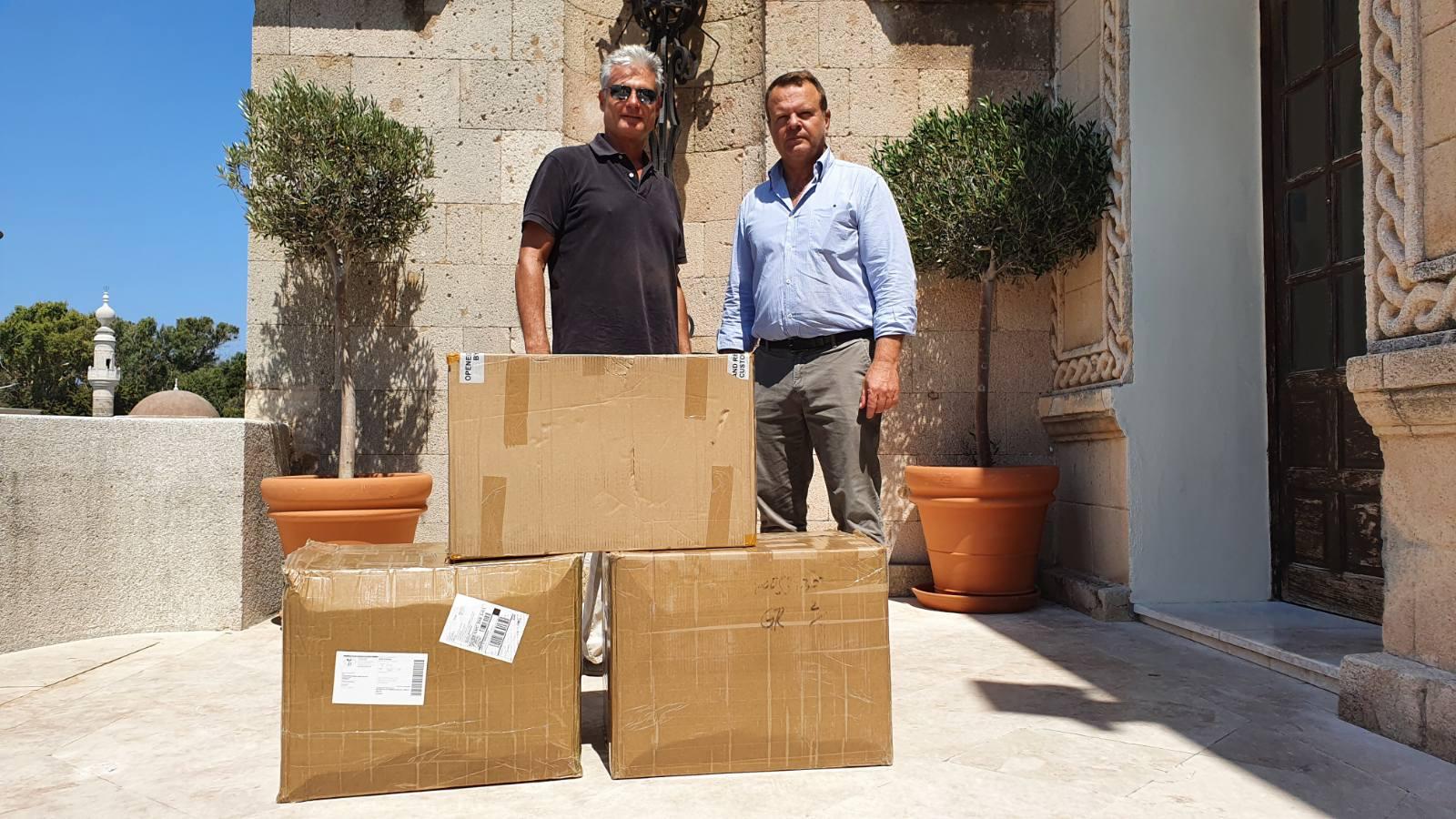 Δωρεά υγειονομικού υλικού από την τεχνική εταιρία «ΕΡΓΩΝΗΣ» ως συνδρομή στις προσπάθειες της Π.N.AIγια υγειονομική θωράκιση