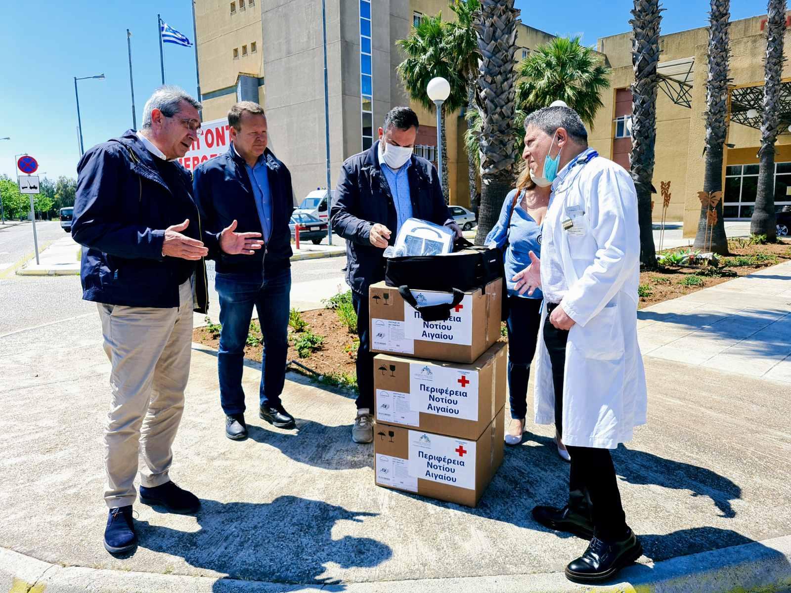 Η Περιφέρεια Νοτίου Αιγαίου παρέδωσε χθες τρεις σύγχρονους αναπνευστήρες στο Νοσοκομείο Ρόδου