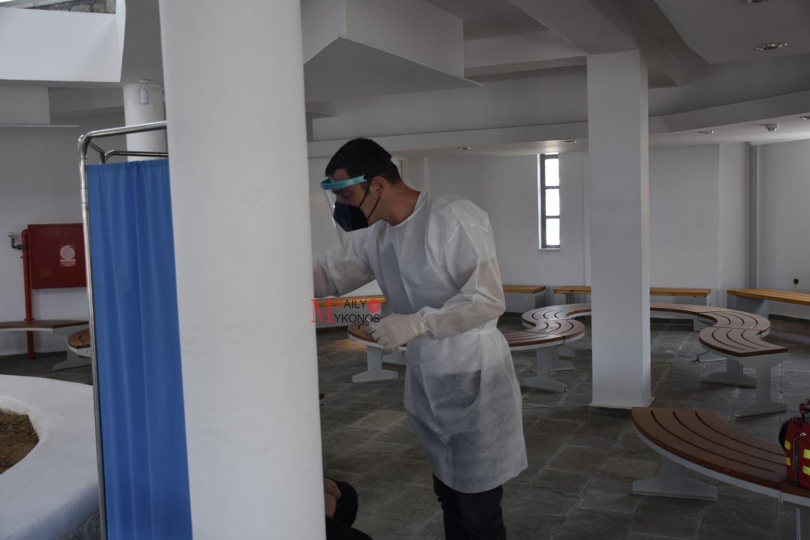 (pics) Ξεκίνησαν τα Rapid Test στο νέο λιμάνι της Μυκόνου