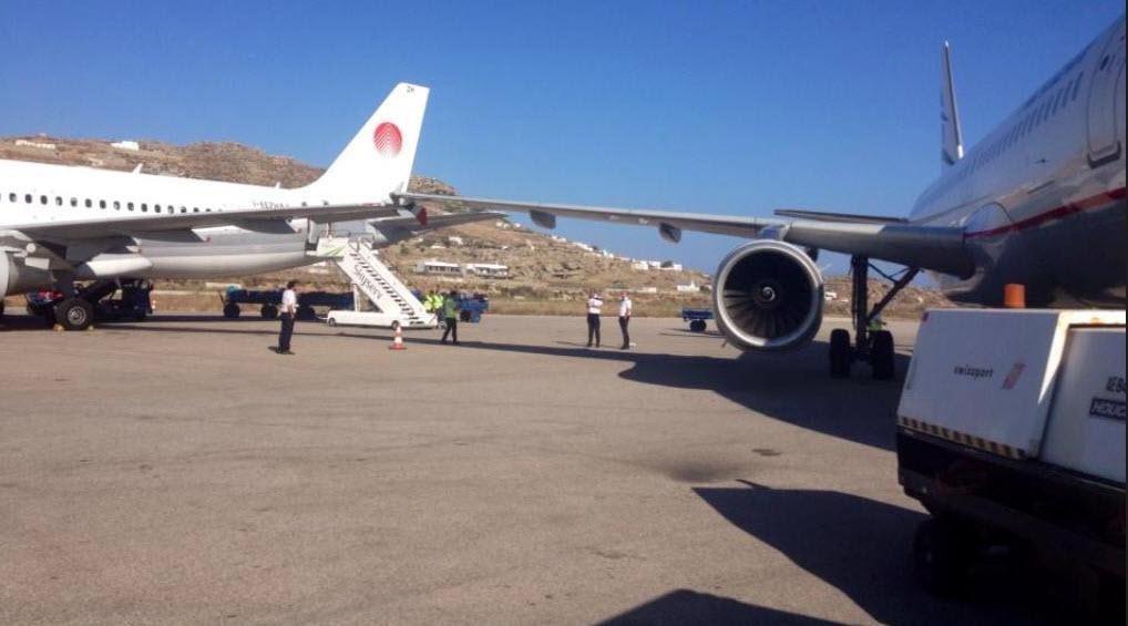 Αεροπλάνο της Aegean χτύπησε κεραυνός