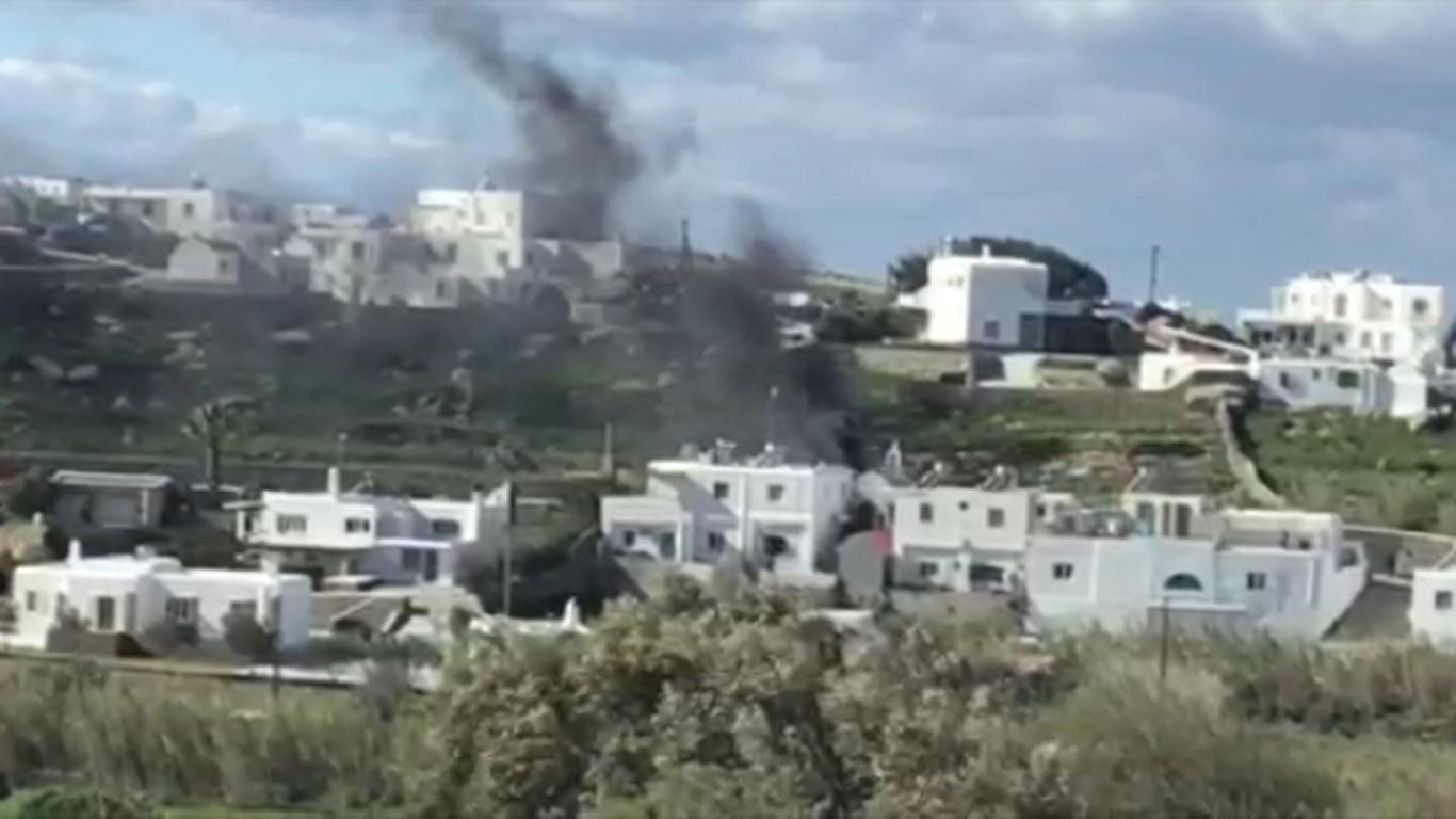 (Εικόνες & Βίντεο) Πώς συνέβη η φωτιά στη Λαγκάδα - Από τύχη δεν κινδύνεψαν άνθρωποι