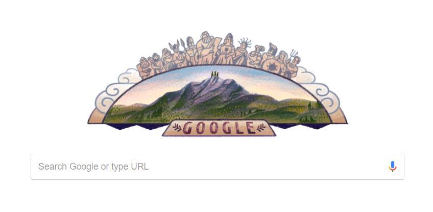 Αφιερωμένο στον Όλυμπο το σημερινό Google doοdle