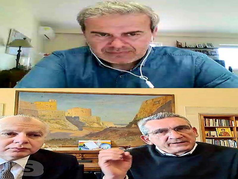 Τηλεδιάσκεψη Γιώργου Χατζημάρκου και Αντώνη Καμπουράκη με τον Γενικό Γραμματέα του ΕΟΤ Δημήτρη Φραγκάκη