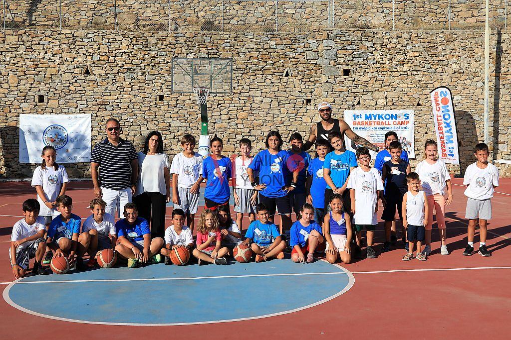 (pics&vid) Μεγάλη συμμετοχή και τη 2η μέρα του «1ο MYKONOS BASKETBALL CAMP»