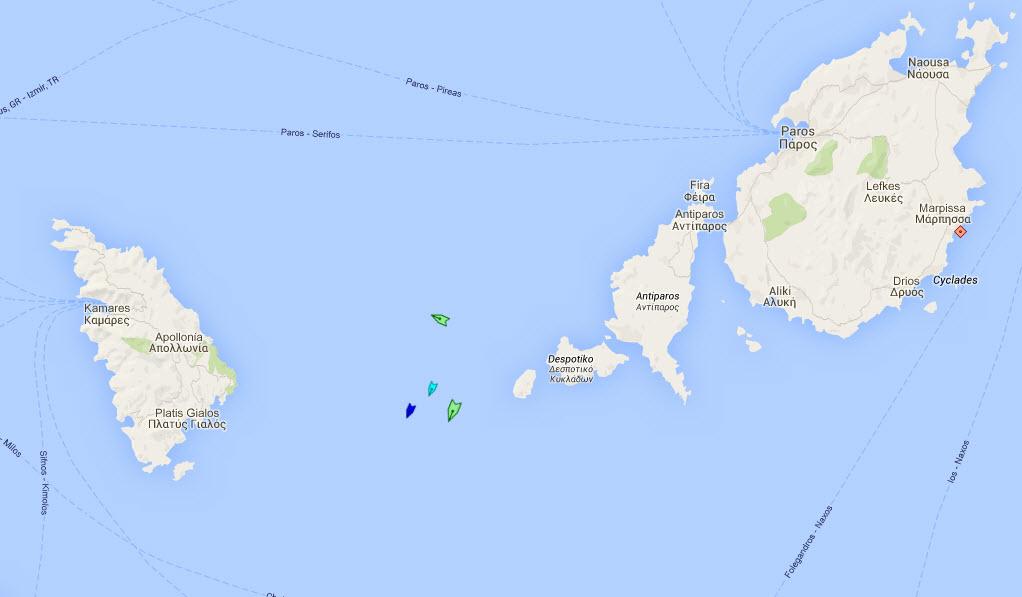 Δυτικά της Αντιπάρου πλέει το MELINA II