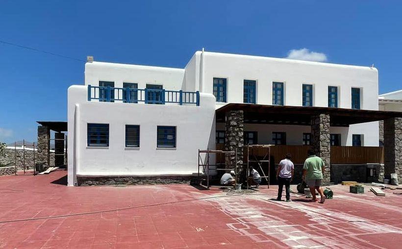 Πραγματοποιούνται εργασίες για την αναβάθμιση των σχολικών υποδομών της Μυκόνου
