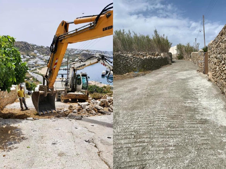 Έργα αποκατάστασης οδοστρώματος στην ανηφόρα του Τούρλου