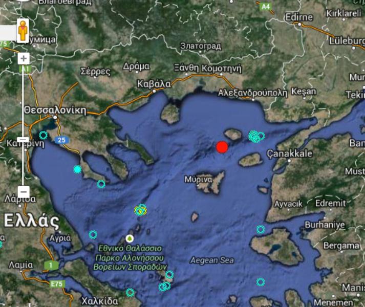 Σεισμός 4 Ρίχτερ στη Σαμοθράκη