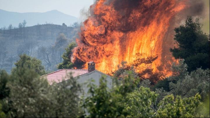Συνεχίζεται η μάχη με τις φλόγες στην Εύβοια