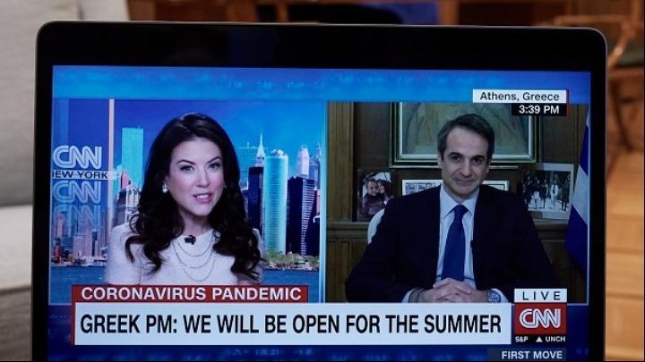 Κυρ. Μητσοτάκης στο CNN: Σημαντική εξέλιξη για την Ελλάδα και τον τουρισμό το πιστοποιητικό εμβολιασμού