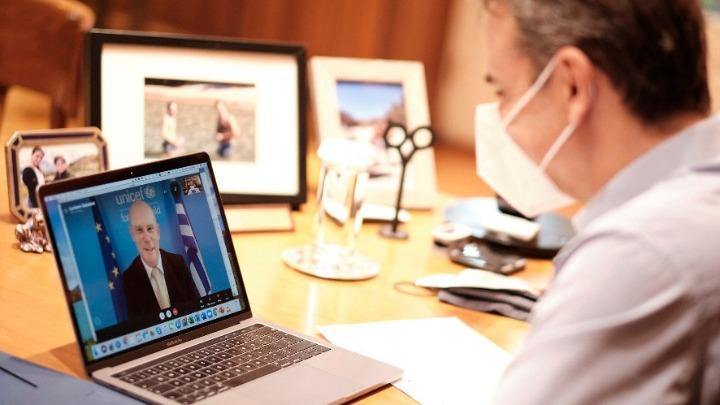 Τηλεδιάσκεψη του πρωθυπουργού με τον επικεφαλής της UNICEF στην Ελλάδα. Το Εθνικό Σχέδιο για τη στήριξη των παιδιών