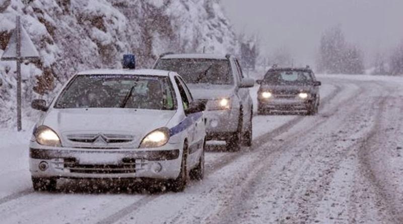 Διακοπή Κυκλοφορίας λόγω χιονοπτώσεων-παγετών στη Σύρο