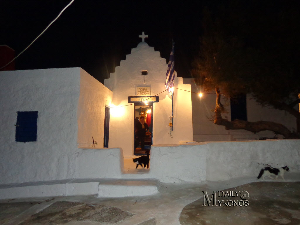 Εσπερινός στο ιστορικό ξωκκλήσι του Αγίου Ταξιάρχη στα Διβούνια