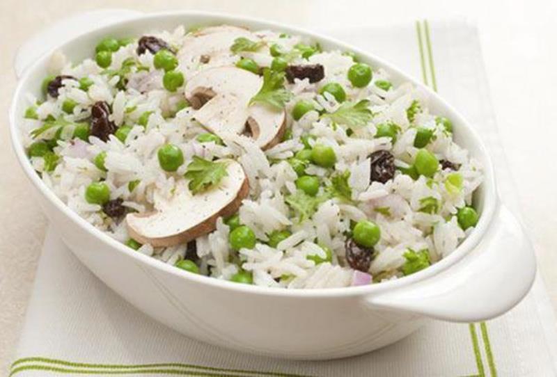 Σαλάτα με μανιτάρια και ρύζι