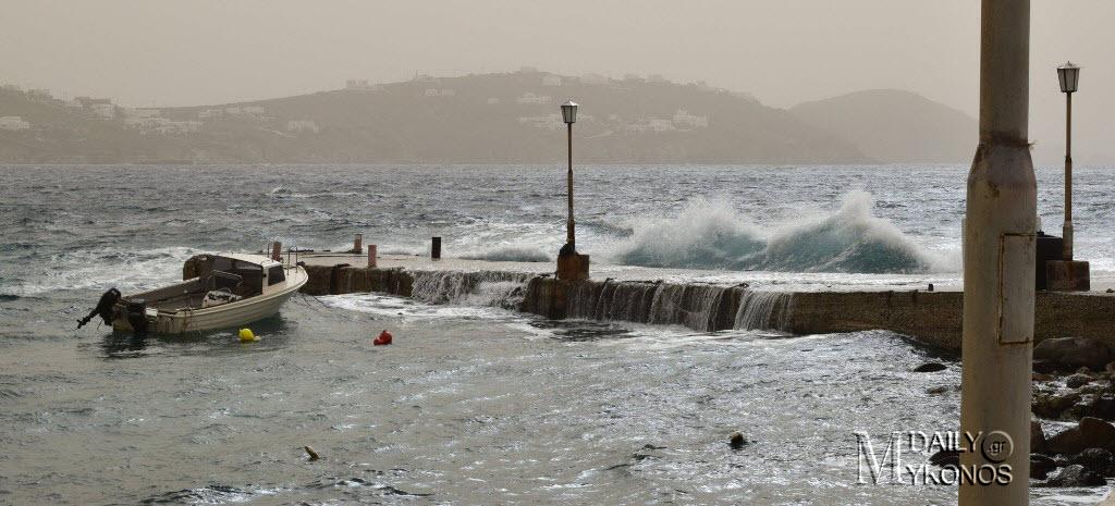 (φωτο) Μύκονος: Όταν η θάλασσα