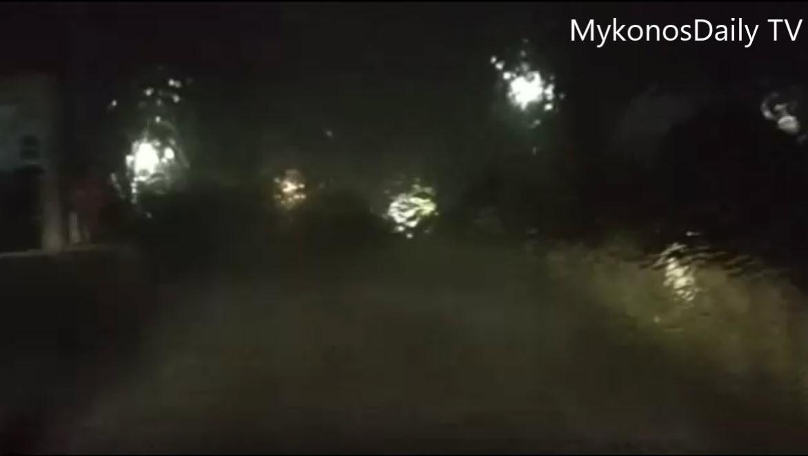 (video) Σφοδρή καταιγίδα στη Μύκονο - Ποτάμια οι δρόμοι - Μηδενική ορατότητα