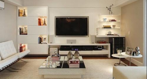 Διακοσμώντας τον χώρο γύρω από την τηλεόραση