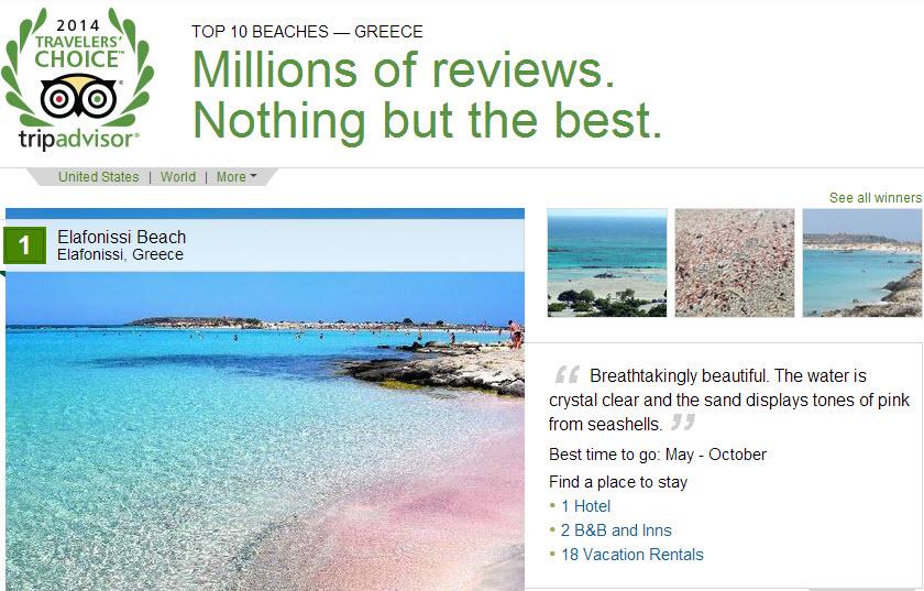 Οι καλύτερες παραλίες στην Ελλάδα και στον κόσμο σύμφωνα με το Tripadvisor