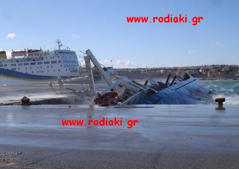 Βούλιαξε μέσα στο λιμάνι της Ρόδου το NOUR M