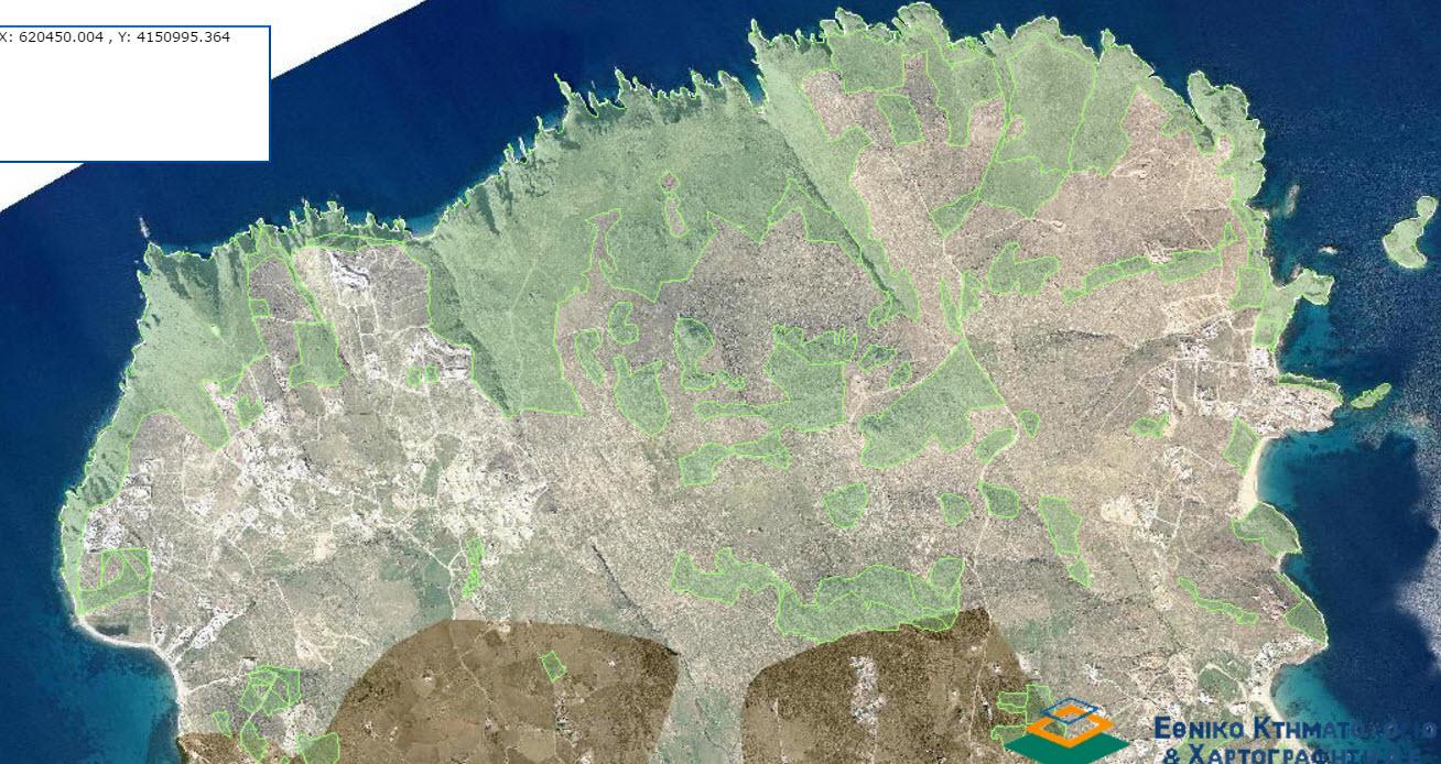 Νέες αναρτήσεις δασικών χαρτών μεταξύ των οποίων της Μυκόνου και άλλων νησιών