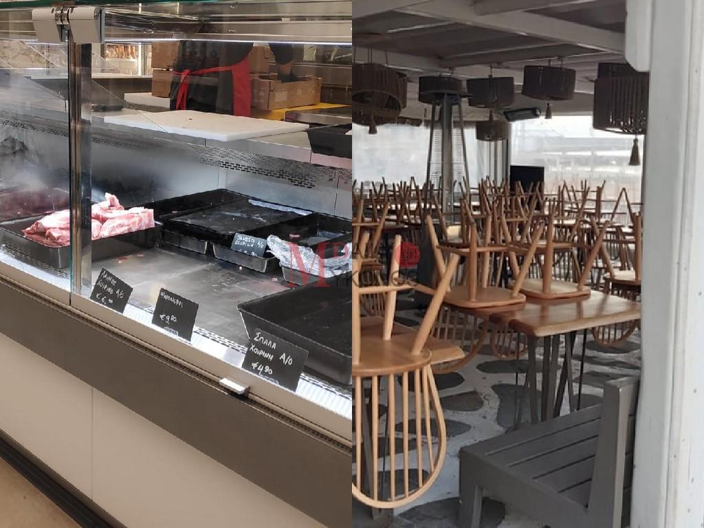 (pics&vid) Πρωτοφανείς εικόνες: Ξεπουλούν τα κρεοπωλεία, αδειάζουν ράφια, κλειστά μαγαζιά - Μια διαφορετική Μύκονο