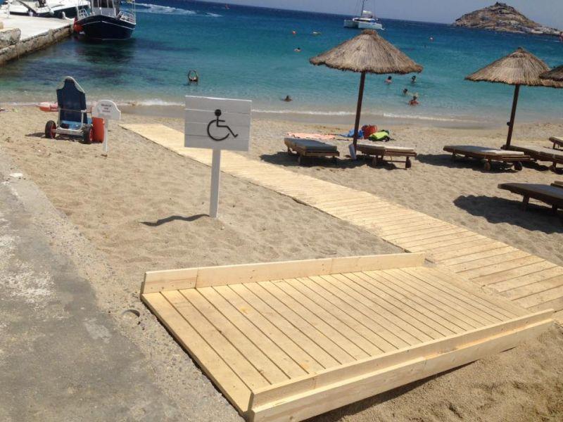 Αυτόνομη πρόσβαση ΑΜΕΑ στις παραλίες της Μυκόνου - Προκηρύχθηκε ο διαγωνισμός για τις απαιτούμενες εγκαταστάσεις