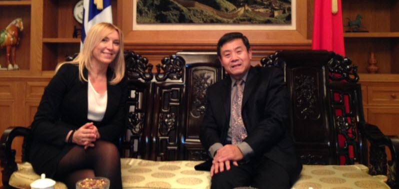 Με τον Πρέσβη της Κίνας συναντήθηκε η αντιπεριφερειάρχης τουρισμού