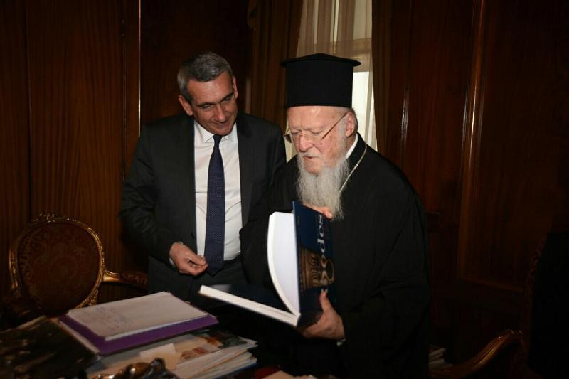 Συνάντηση με τον Οικουμενικό Πατριάρχη Βαρθολομαίο είχε ο Περιφερειάρχης Γιώργος Χατζημάρκος