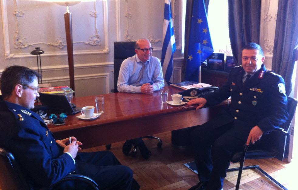 Συνάντηση Αντιπεριφερειάρχη Κυκλάδων με το νέο Γενικό Περιφερειακό Αστυνομικό Διευθυντή Νοτίου Αιγαίου