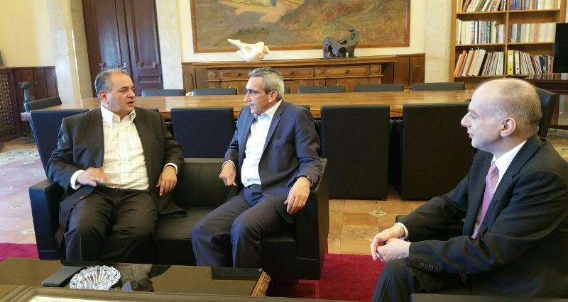 Συνάντηση του Περιφερειάρχη με τον ΓΓ του ΕΟΤ και τον Πρόεδρο της ΕΞΡ κ.κ. Λειβαδά και Καμπουράκη