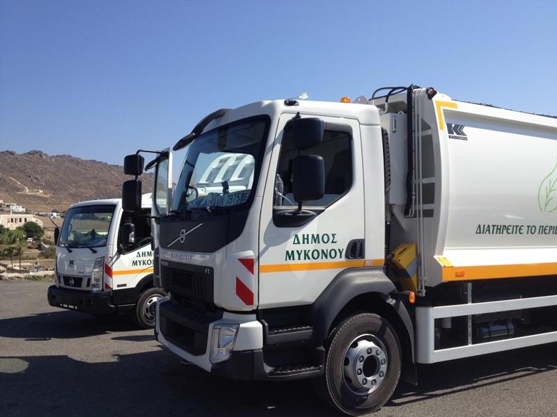 Δύο νέα σύγχρονα απορριμματοφόρα στην υπηρεσία καθαριότητας του Δήμου