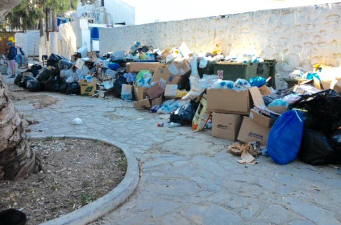 Ανακοίνωση της Επόμενης Μέρας για τα σκουπίδια: Η τραγική για το νησί κατάσταση δεν είναι πια ανεκτή