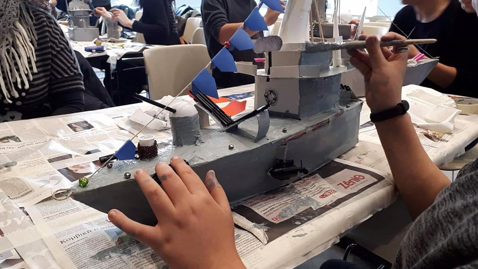 Το αντιτορπιλικό θέμα του φετινού εργαστηρίου καράβας