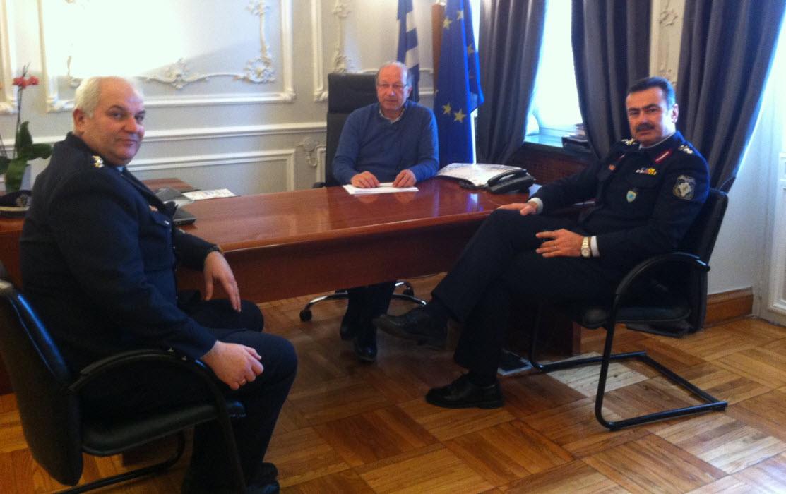 Θέματα ασφάλειας συζητήθηκαν στην συνάντηση Λεονταρίτη με το νέο Αστυνομικό Δ/ντη Νοτίου Αιγαίου