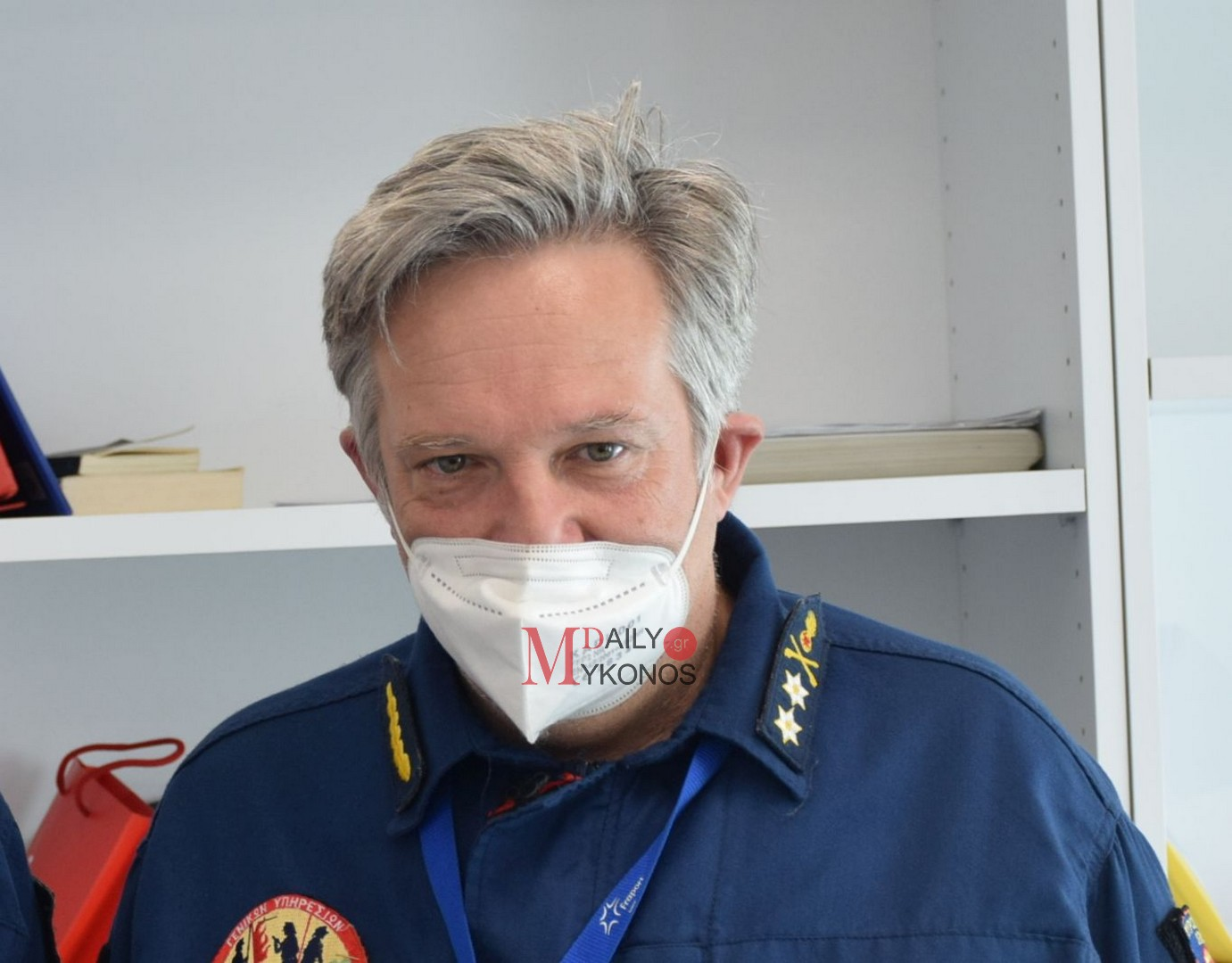 (vid) Ιωάννης Σταμούλης: Στόχος μας περισσότεροι Πυροσβέστες και ένα νέο όχημα φέτος στη Μύκονο